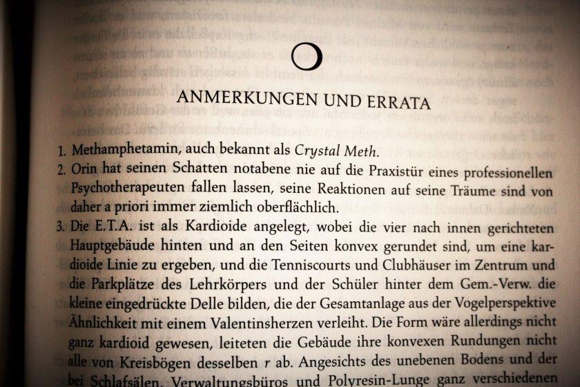 Fußnoten in Romanen