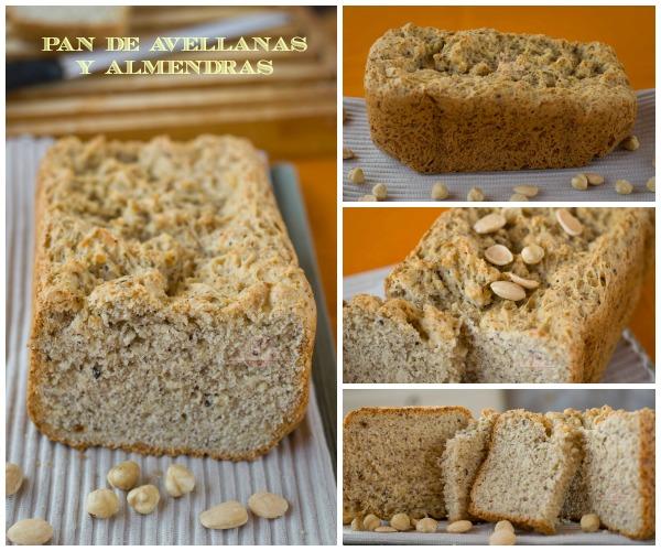 Pan de Avellanas y Almendras Collage