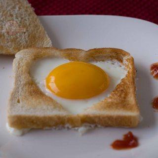 Tostadas con Huevo para San Valentín