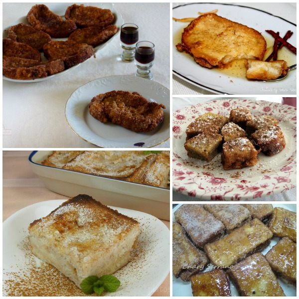 Tipos de Torrijas Collage