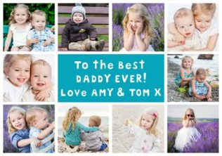 Happy Father's day 2017 - personalised card