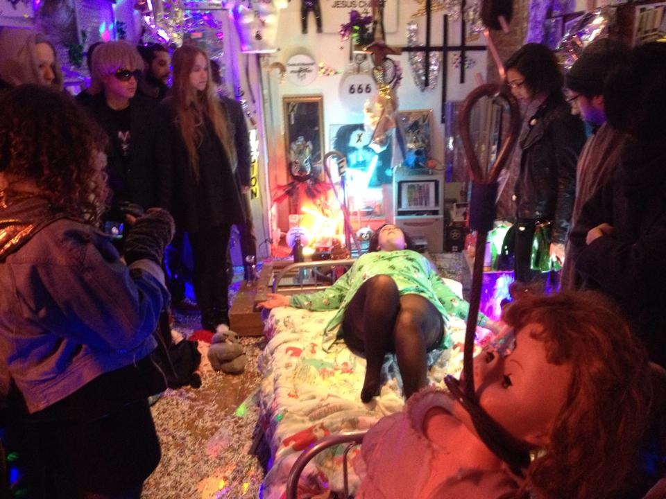 """Images from """"Dear Annie: EXORCISE YR INSECURITIES,"""" performance, 2014"""