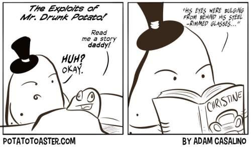 Mr. Drunk Potato reads a bedtime story