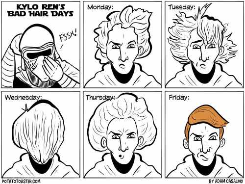 Kylo Ren Bad hair days.