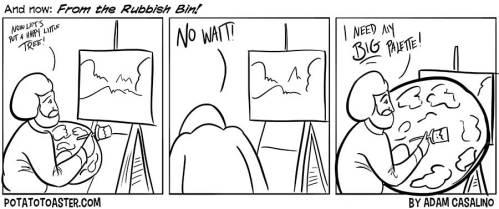 Bob Ross loves his palettes