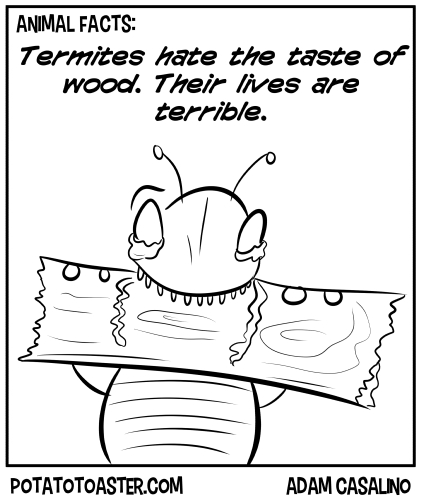 But seriously, termites are terrible.