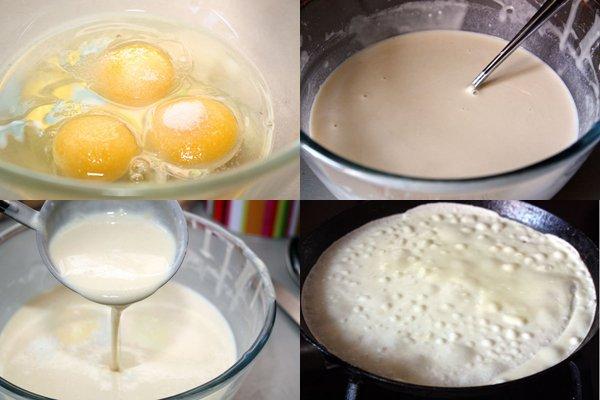 Блины сладкие тонкие рецепт пошагово без соды