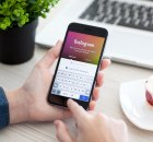 Using instagram on mobile phone