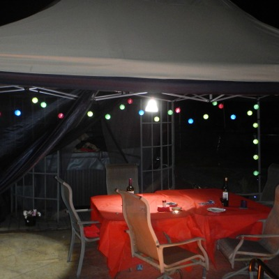 gazebo night with lanterns
