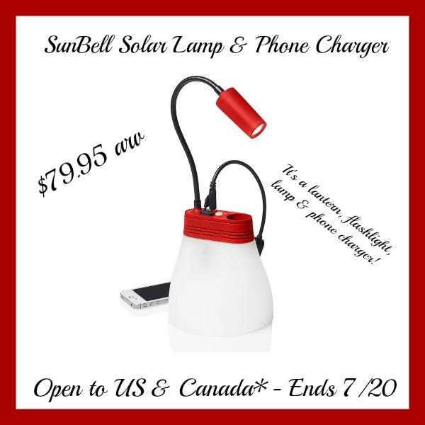 sunbell solar lamp