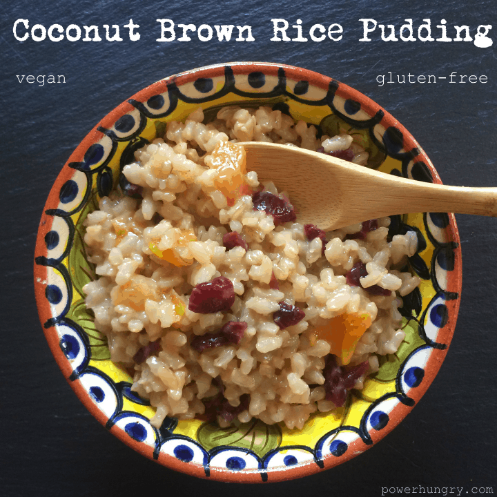Slow Cooker Coconut Brown Rice Pudding {vegan + gluten-free}   power ...