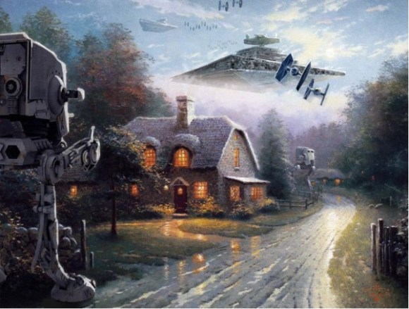 Star Wars Kinkade copy
