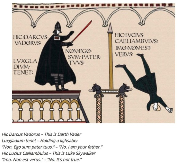 Darth Vader in Latin copy