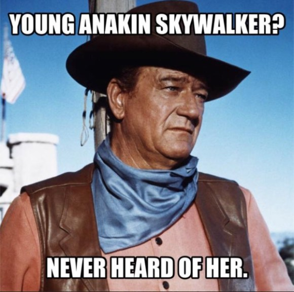 John Wayne on Annakin copy
