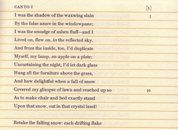 """The opening lines of John Shade's most famous poem, """"Pale Fire"""""""