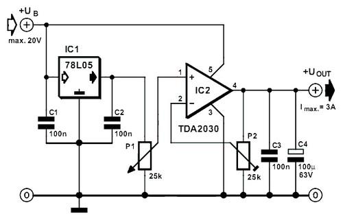 adjustable voltage regulator 3 ampere