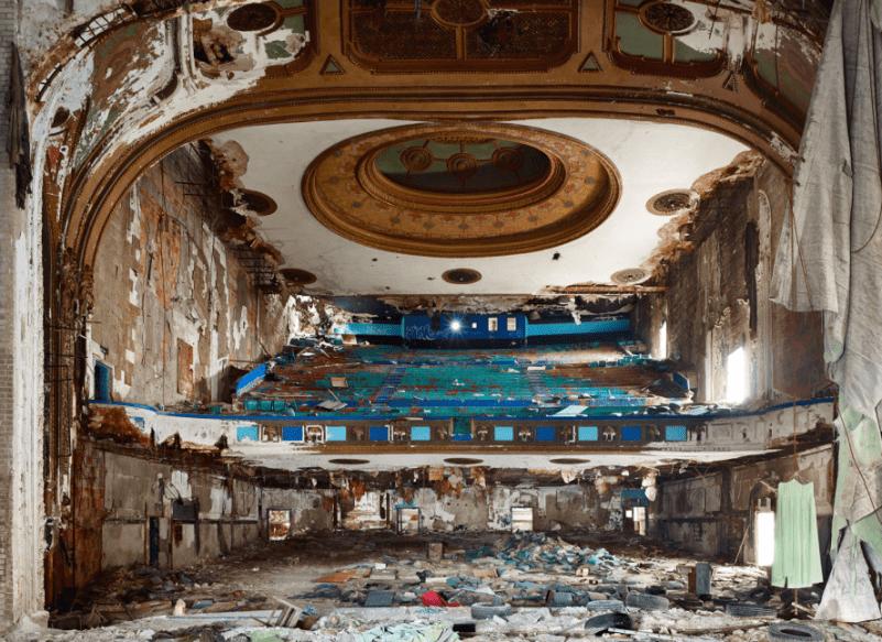 Руины города Детройт