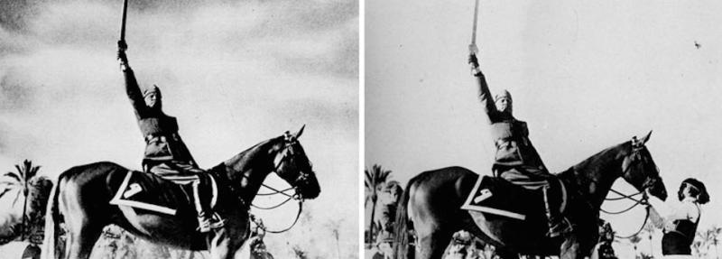 Мистификация фотоснимков в истории.