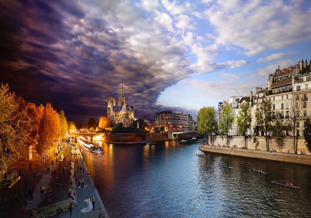 Мост Турнелль, Париж, Франция.
