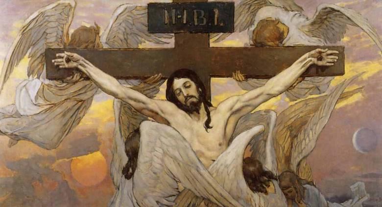 В.М. Васнецов. Распятый Иисус Христос. Эскиз росписи Владимирского собора в Киеве.