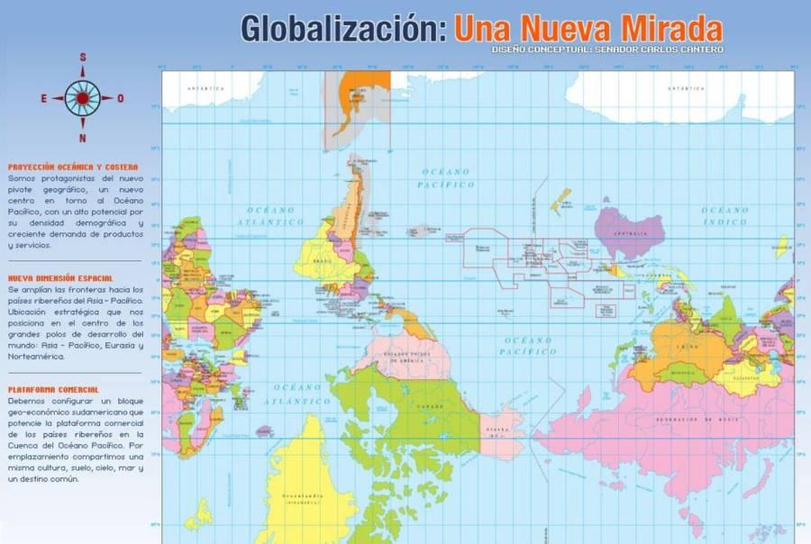 Чили. Карта мира.