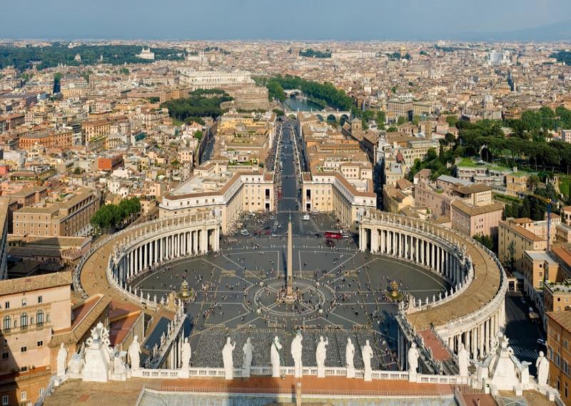 Площадь Святого Петра, Ватикан. Фотоисточник