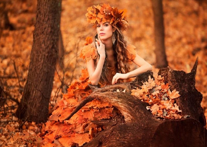 Осенняя фотосессия идеи, фото осенью, фотосессия осенью, фотосессия осень, идеи для фотосессии осенью, платье из листьев