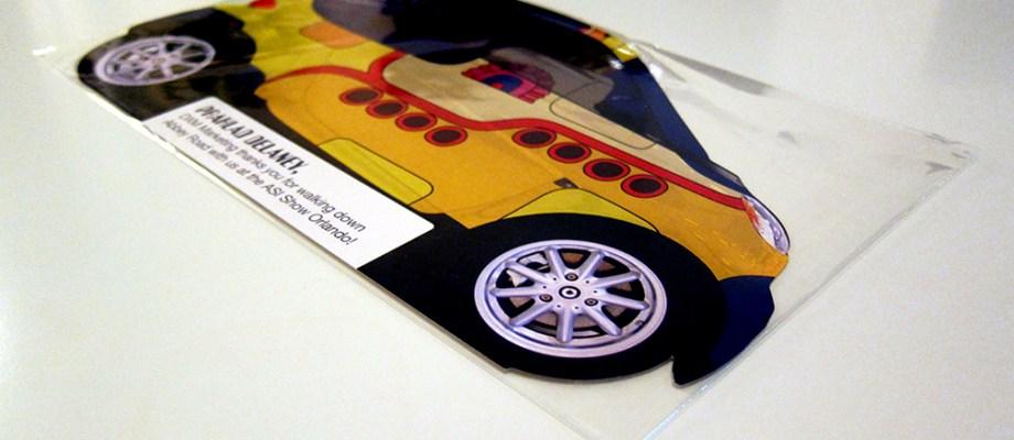 Diecut Postcard