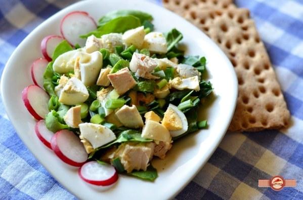 Salata cu oua si spanac