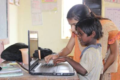 Computer literacy practical session - Nashik region