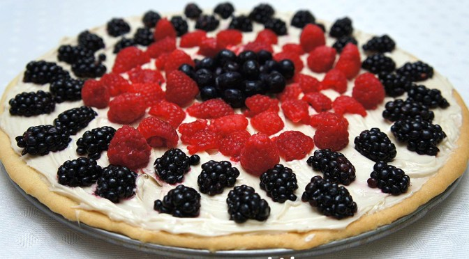 Red, White and BLUE Food