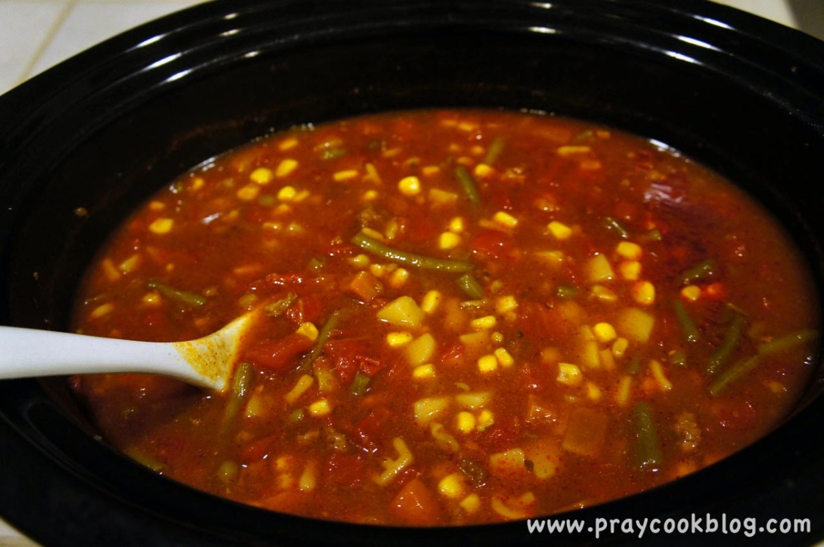 Saturday's Soup:  9 Can Vegetable Soup