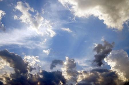 dark and light clouds