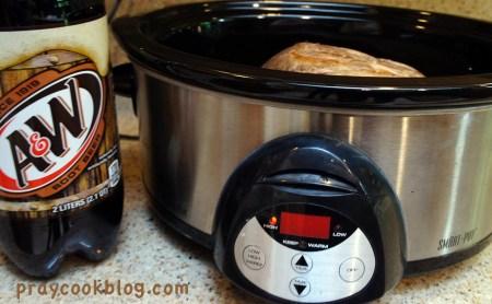 crock pot and root beer