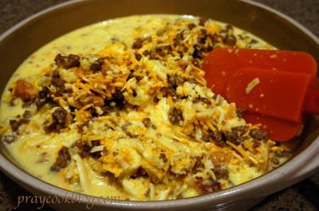 mixed egg casserole