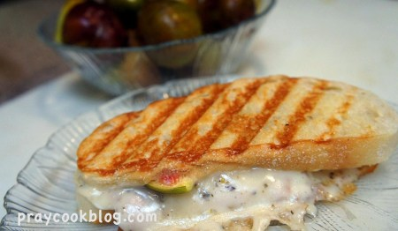 grilled ham, fig, and cheese
