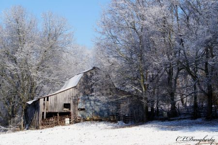 Denny's Snowy Barn