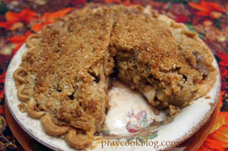 apple crumb pie 3/4