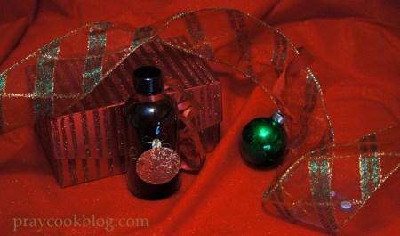 vanilla decorated bottle