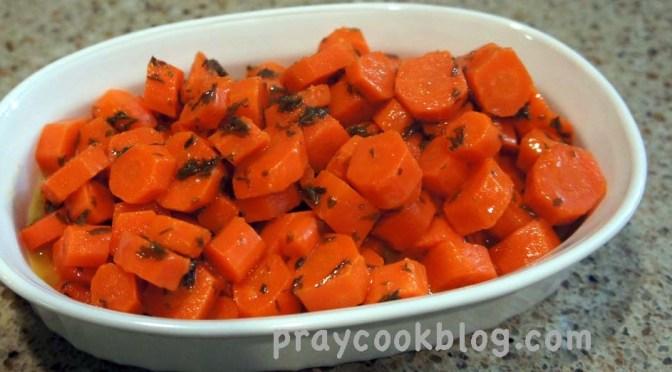 Pan Fried Steak and Carrots in Lemon-Parsley Butter