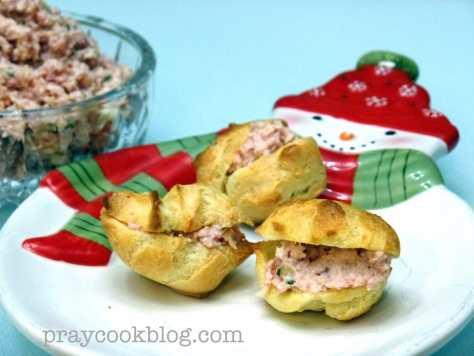 Ham Salad Mini-Puffs