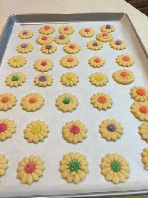 Grandma's Spritz Cookies made by my Cousin Ron