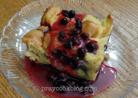 Blueberry French Toast upclose