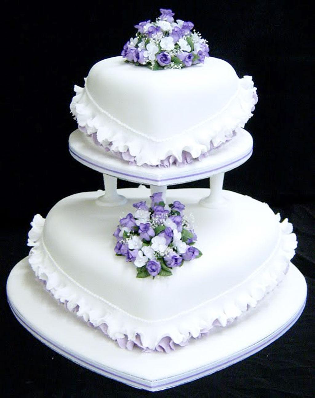 Regaling Purple Flower Heart Wedding Cake Wedding Cake Purple Flower Heart Wedding Cake Wedding Cake Cake Ideas By Purple Wedding Cakes Pinterest Purple Wedding Cake Decorations wedding cake Purple Wedding Cakes