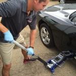 Precision Wheel Repair - Vehicle jack