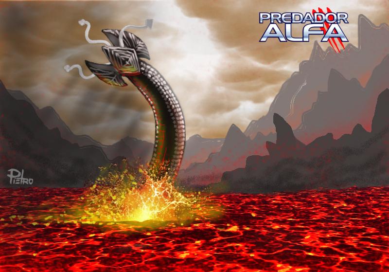 Predador Alfa - Verme-da-Lava
