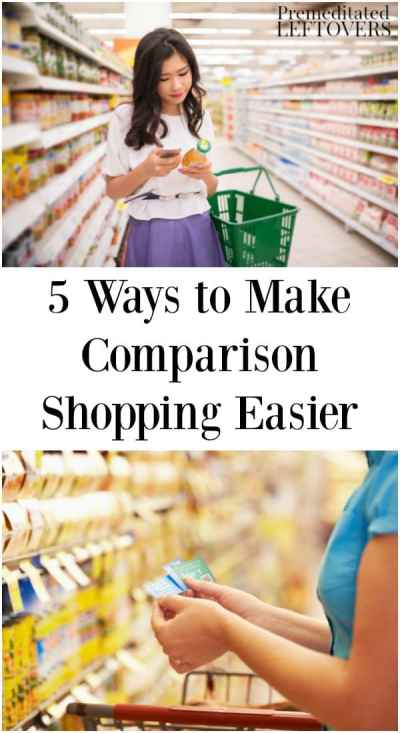 5 Ways to Make Comparison Shopping Easier