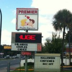 Front Sign of Premier Couples Superstore