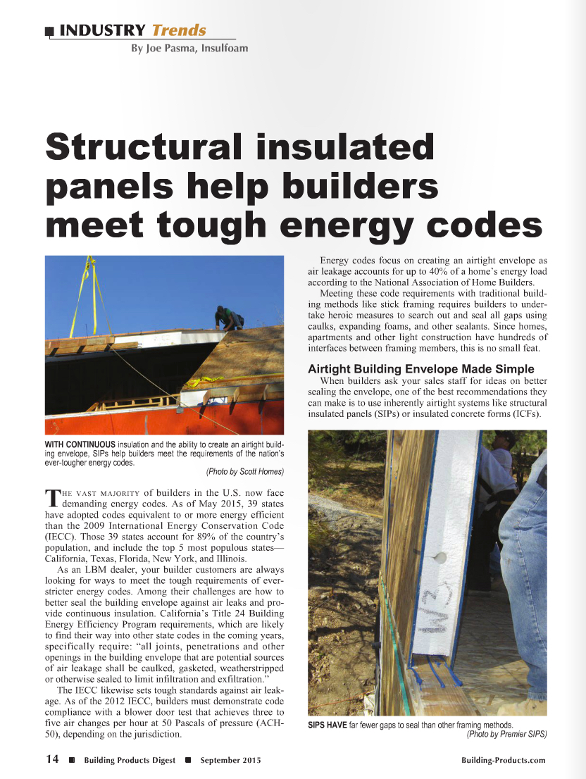 Premier sips structural insulated panels help builders for Structural insulated panels texas