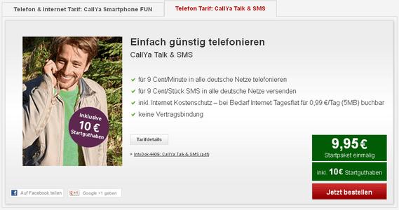 vodafone : Vodafone: CallYa Talk & SMS als neuer Prepaid Tarif gestartet